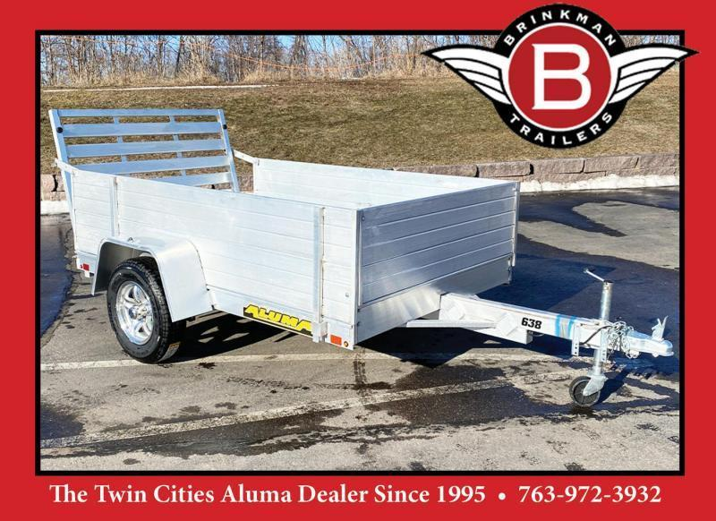 "Aluma 638 Open Utility Trailer w/ 39"" Full Ramp - All Purpose!"