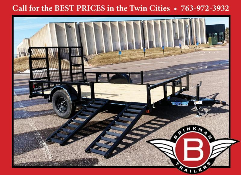 "Top Quality Top Hat 83"" x 12' Utility Trailer w/ 54"" Side Load Ramps - BUILT TO LAST!"