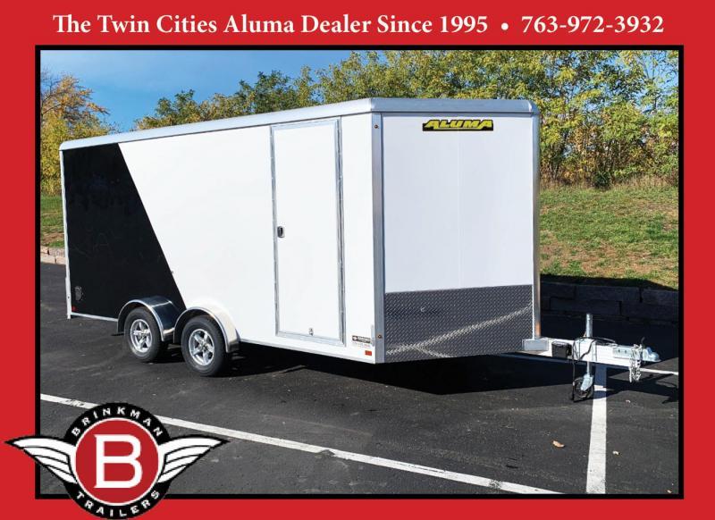 Aluma 7.5x16 Aluminum Enclosed UTV Trailer - 7' Int. - Rear Ramp!