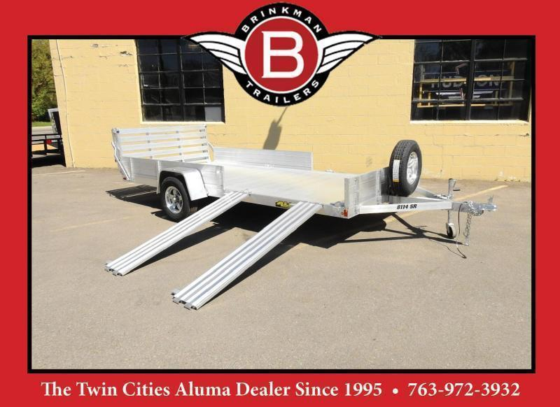 Aluma 8114 SR ATV  UTV Trailer Bi-fold Rear Ramp and Side Load Ramps!