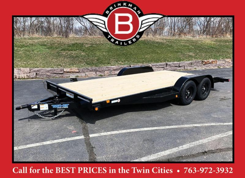 Top Quality Top Hat 83x18 Car/Equipment Hauler - Tuck Under Ramps - 7000# GVWR!