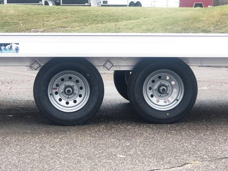 Aluma 8614/13B 8.5x14 3-Place Aluminum Snowmobile Trailer with Brakes