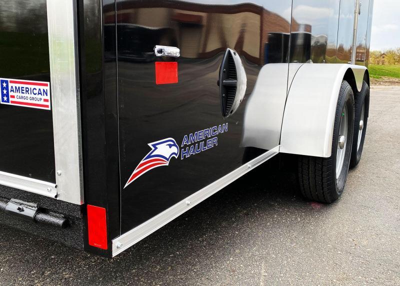 "Deluxe American Hauler 7x16 Enclosed Trailer - 6'6"" Int. - Rear Ramp!"