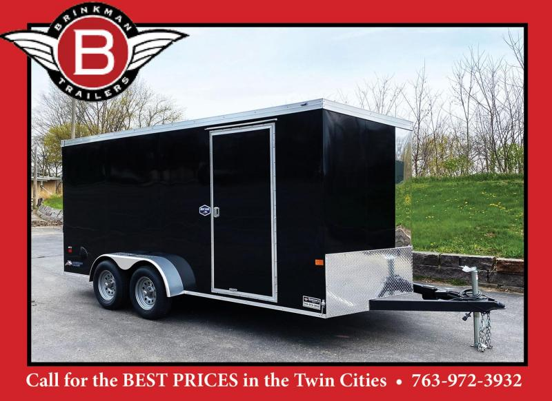 "Deluxe American Hauler 7x16 Enclosed Trailer - 6'6"" Int. - Rear Ramp!"