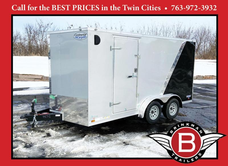 "Continental 7.5x14 Enclosed Cargo Trailer - 6'6"" Interior - Rear Ramp"