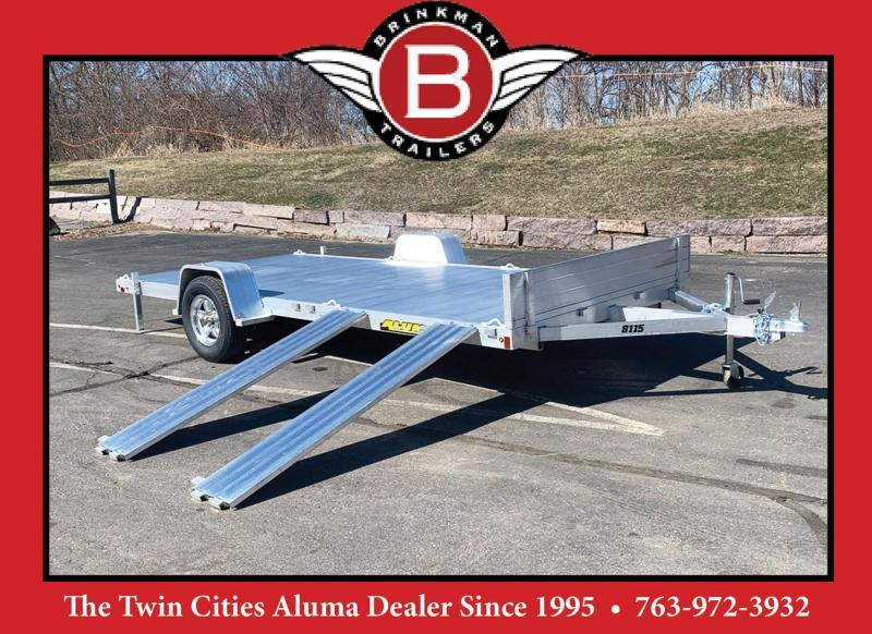 Aluma 8115 (81x15) Aluminum ATV Trailer - Side Ramps!
