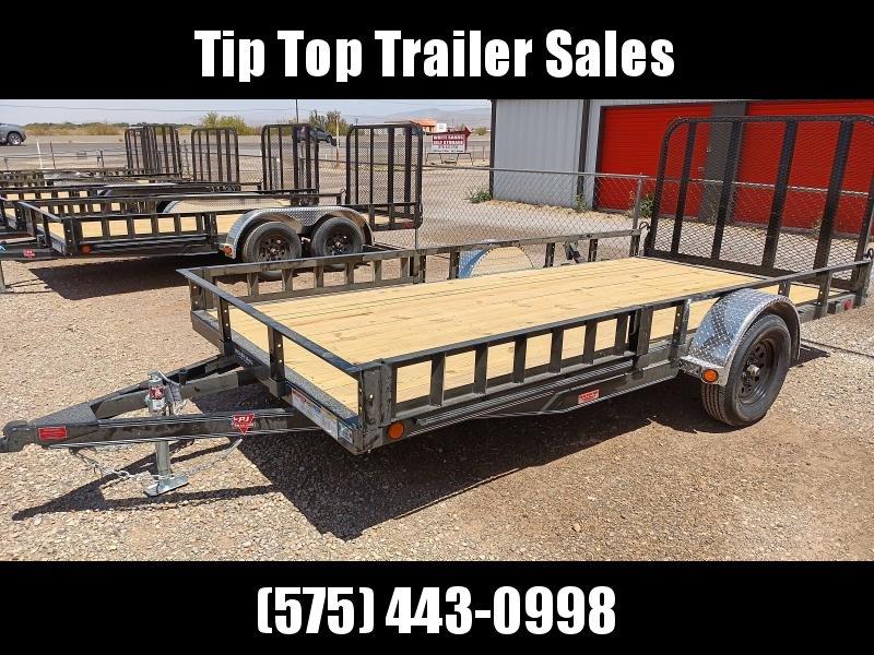 "2021 PJ Trailers 77"" x 14' 77"" Single Axle Channel Utility (U7) Utility Trailer"