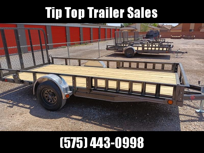 "2021 PJ Trailers 77"" x 14' 77"" Single Axle Channel Utility (U7) Utility Trailer"