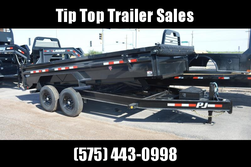 2021 PJ Trailers 16ft.' X 83 in. Low Pro Dump (DL) Dump Trailer