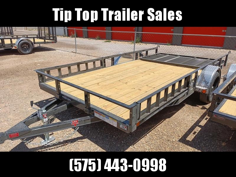 "2021 PJ Trailers 83"" x 14' 83"" Single Axle Channel Utility (U8) Utility Trailer"