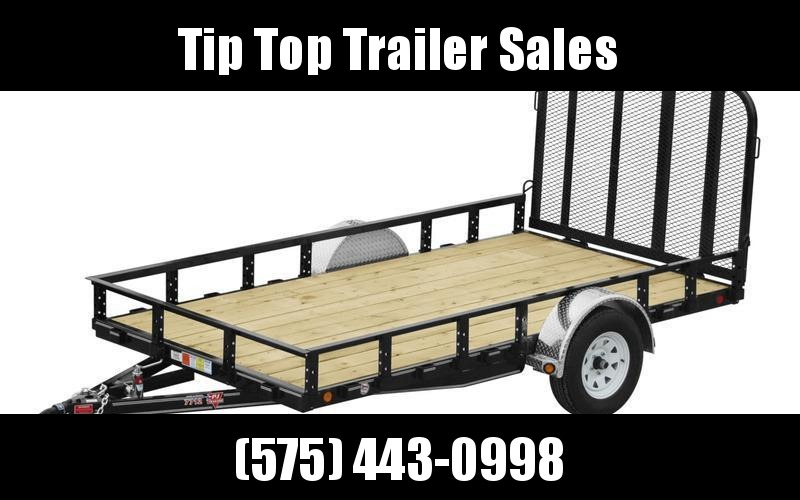 "2021 PJ Trailers 77"" x 12' 77"" Single Axle Channel Utility (U7) Utility Trailer"