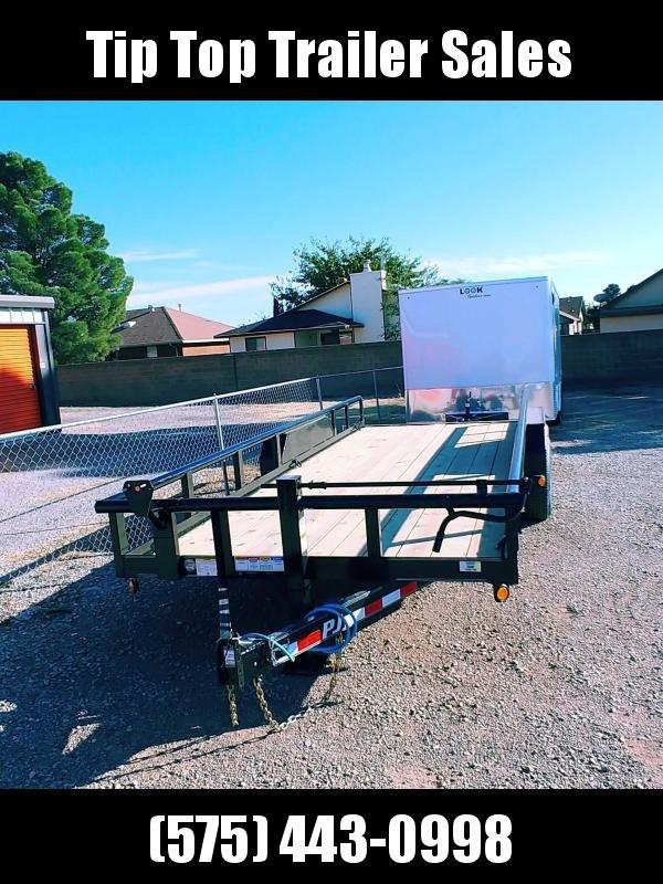 2021 PJ Trailers Angle Pipetop (P8) Car / Racing Trailer