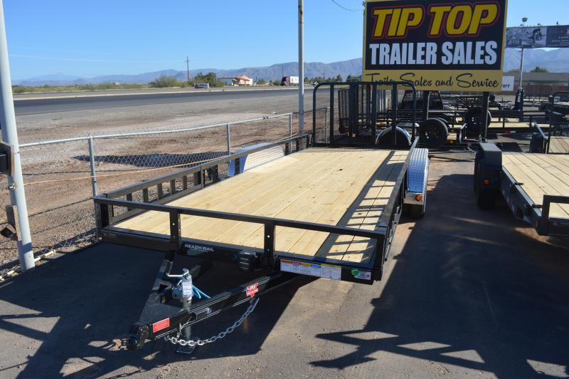 "2022 PJ Trailers 83"" x 18' 83"" Tandem Axle Channel Utility (UL) Utility Trailer"