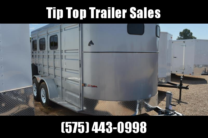 2021 GR Trailers 6.8' X 16' Bumper Pull Horse Trailer with 3 windows on each side (HT6816W07LD) Livestock Trailer