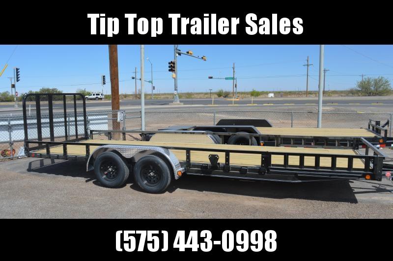 "2021 PJ Trailers 83"" x 22' 83"" Tandem Axle Channel Utility (UL) Utility Trailer"