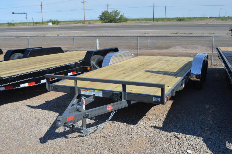 "2021 PJ Trailers 18'x4"" Channel Carhauler Trailer"