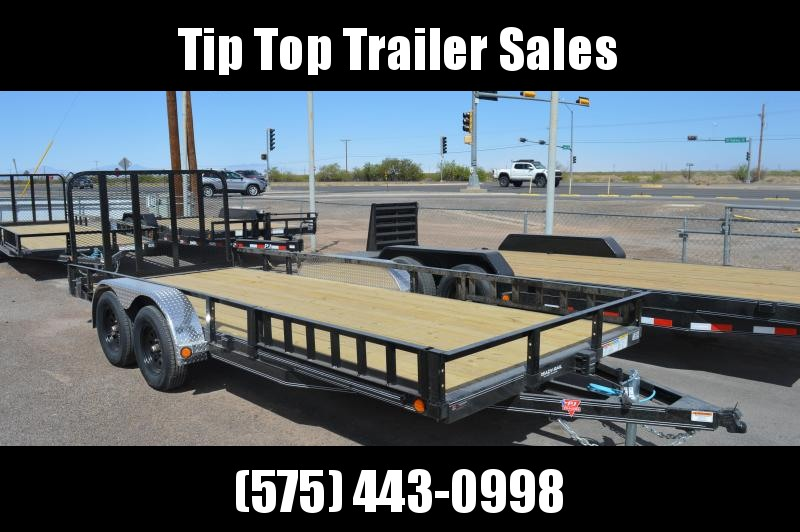 "2021 PJ Trailers 83"" x 18' 83"" Tandem Axle Channel Utility (UL) Utility Trailer"
