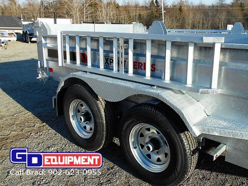 2020 K Trail 6 x 10 - 10000 LB Dump Galvanized
