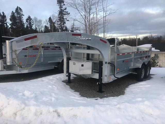 2021 K Trail Gooseneck D8014-14 Dump Trailer
