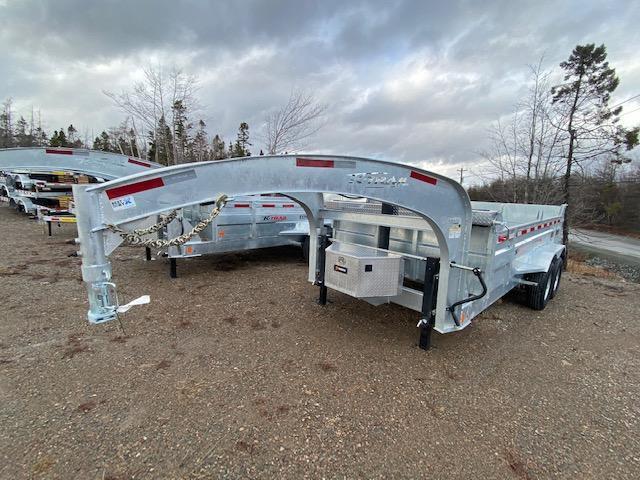 2021 K Trail Gooseneck D8214-14 Dump Trailer