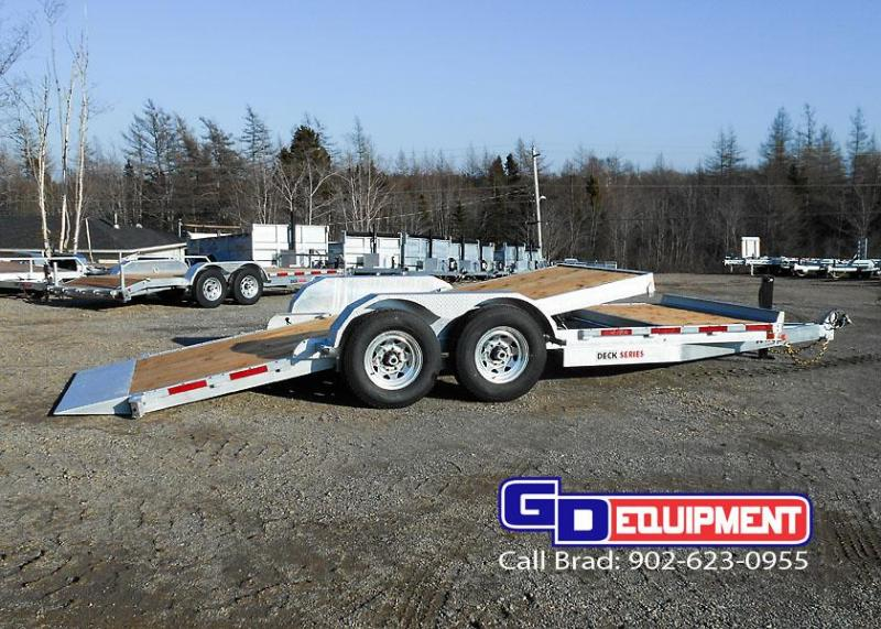 2020 K Trail 20' gravity Split Tilt 14K Equipment Trailer
