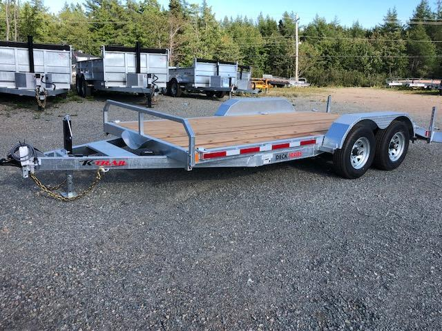 2021 K Trail 16' Car Hauler / Equipment Galvanized trailer