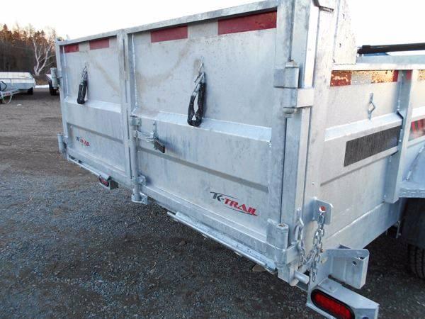 2021 K Trail 80 x 16 Dump trailer - 14000 LB Galvanized