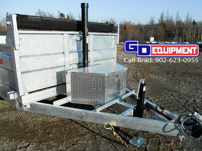 "2021 K Trail 82"" x 12 - 14000 LB Dump Galvanized"
