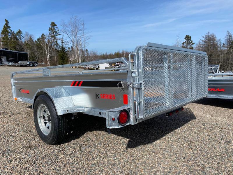 """2021  66""""x123"""" K Trail utility trailer Galvanized"""