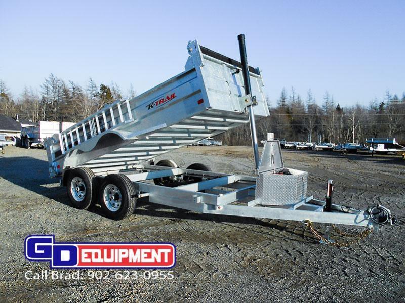 2021 K Trail 6 x 12 Dump trailer - 10000 LB Galvanized