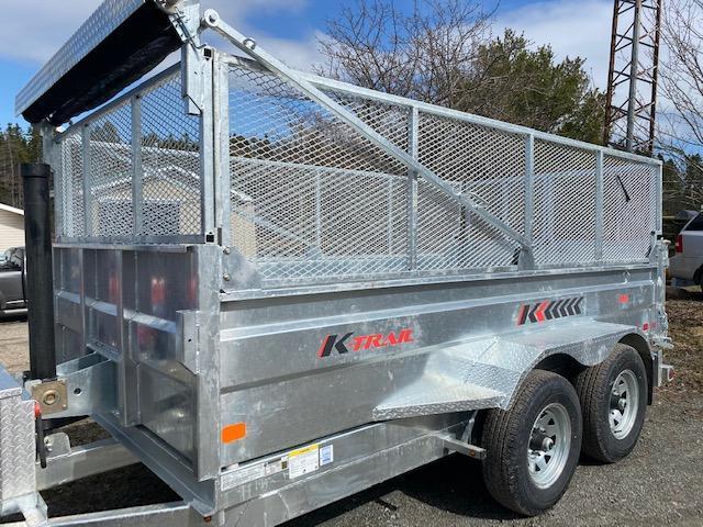 STOCK  2021 K Trail 6 x 12 Dump trailer - 10000 LB Galvanized