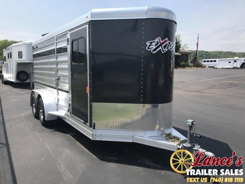 2020 Exiss 15Ft. Mini Combo Exhibitor Low Pro Show Livestock Bumper Pull Trailer