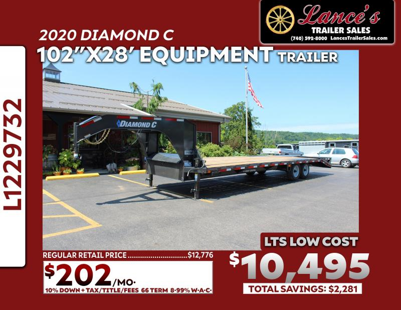 2020 Diamond C 28' (23'+5') Equipment Trailer