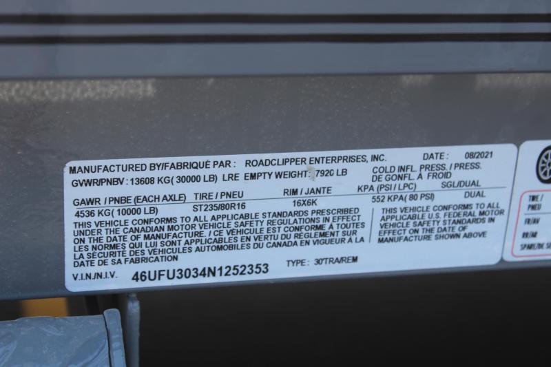 2022 Diamond C 30' Tri-Axle Dually Pintle Equipment Trailer