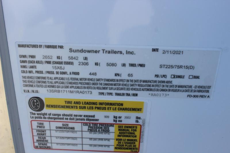 2021 Sundowner 16' RV
