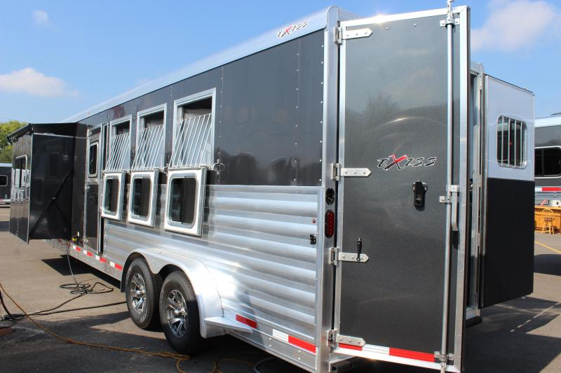 2022 Exiss 4 Horse Slant Load Glide LQ Horse Trailer