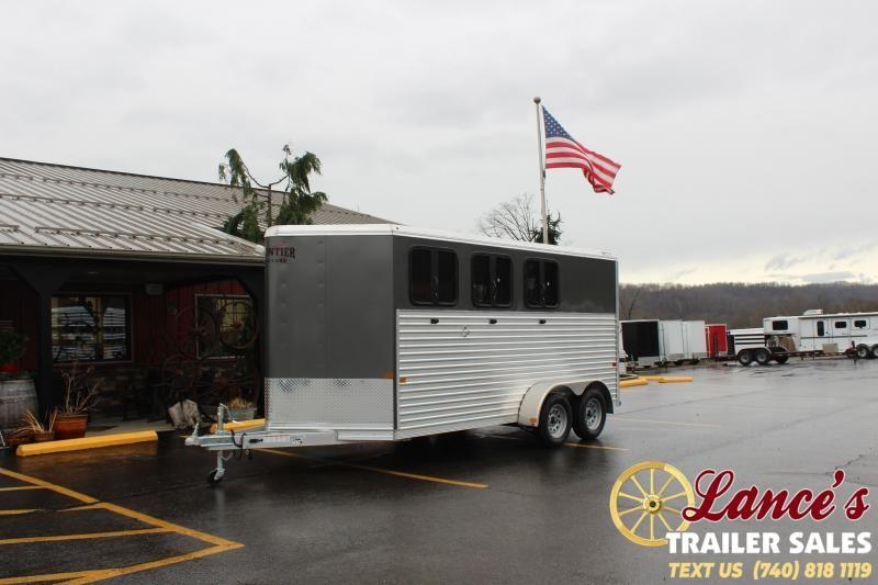 2021 Frontier 3 Horse Slant Load Horse Trailer