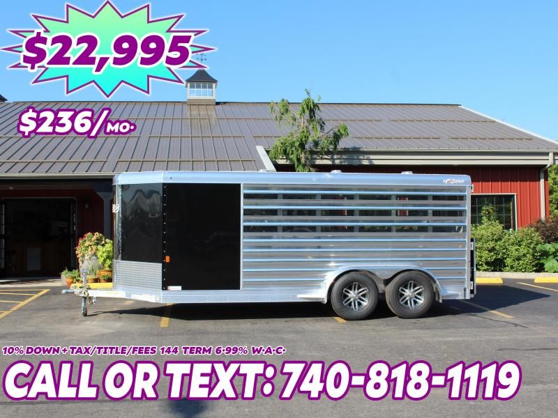 2021 Exiss 16' Low Pro Pen Livestock Trailer