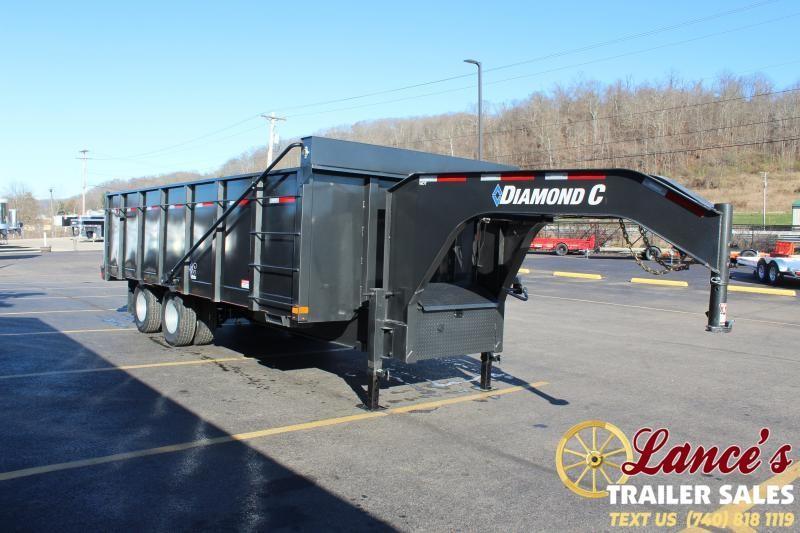 2021 Diamond C 20' Grain Dump Trailer