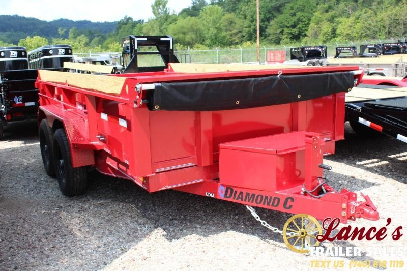 "2019 Diamond C 77"" x 12 Ft. Dump Trailer"