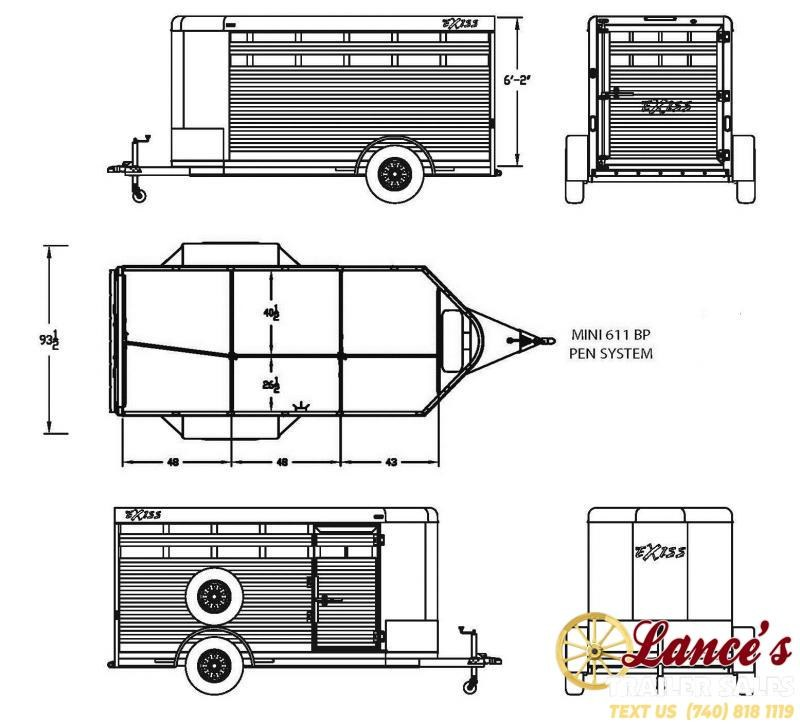 2020 Exiss 11Ft. Mini Low Pro Livestock Trailer