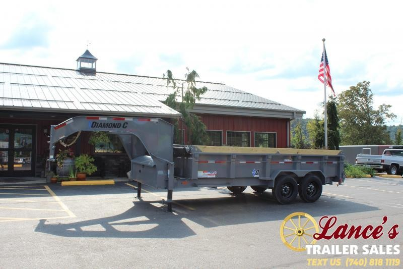 2021 Diamond C 16' TELESCOPIC Dump Trailer