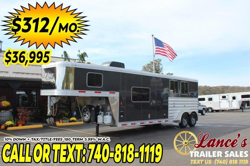 2020 Exiss 2 Horse Slant Living Quarters Trailer
