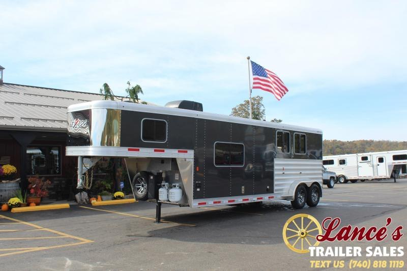 2021 Exiss 2 Horse Slant Living Quarters Trailer