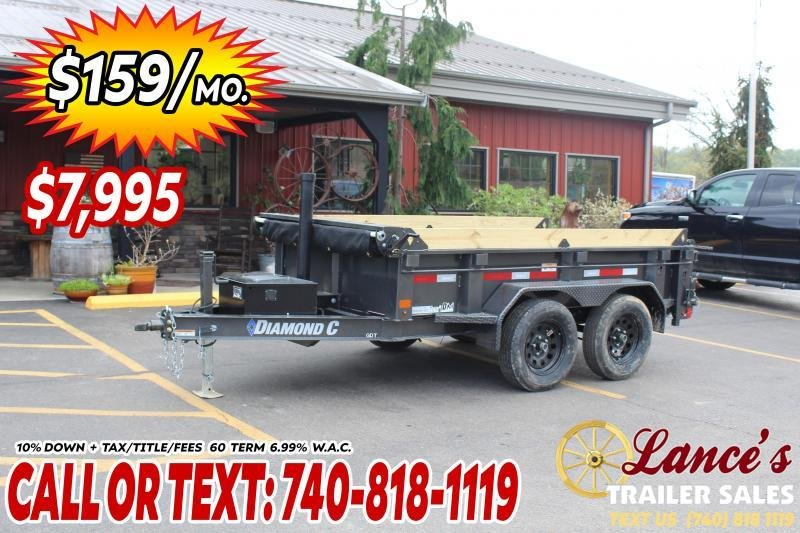 2021 Diamond C 10' Telescopic Dump Trailer