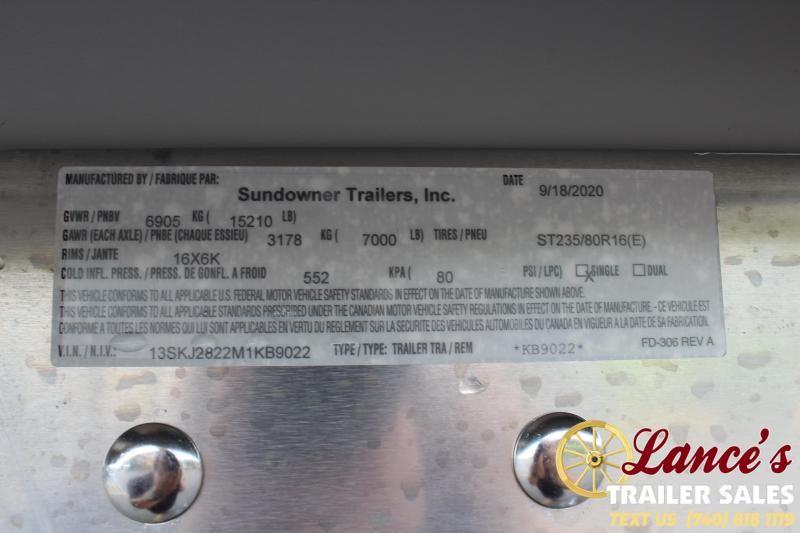 2021 Sundowner 24' Multi-Purpose Livestock Trailer