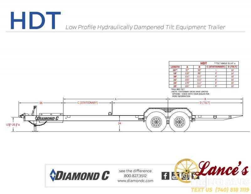 2021 Diamond C 22' Tilt Equipment Trailer