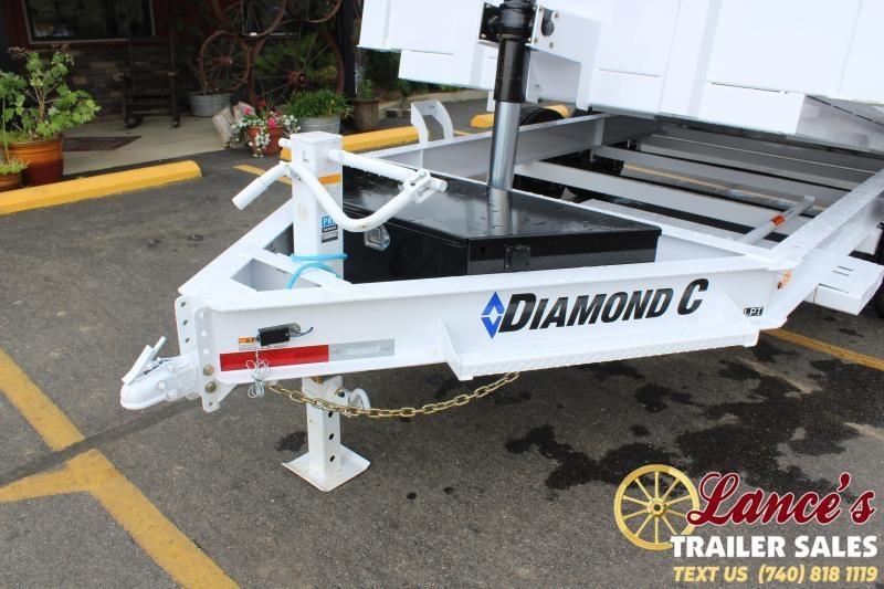 2021 Diamond C 12' Telescopic Dump Trailer