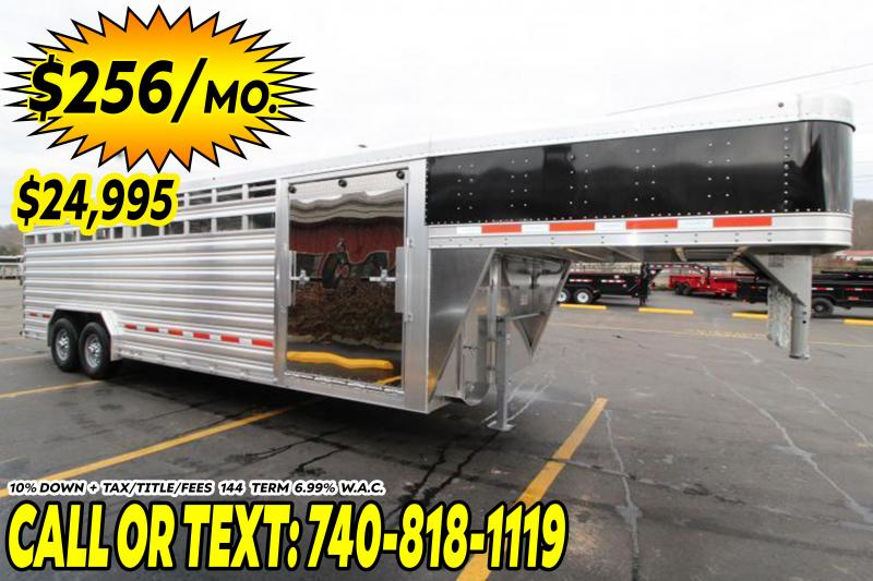 2020 Featherlite 24' (8'W) Show Cattle Livestock Trailer