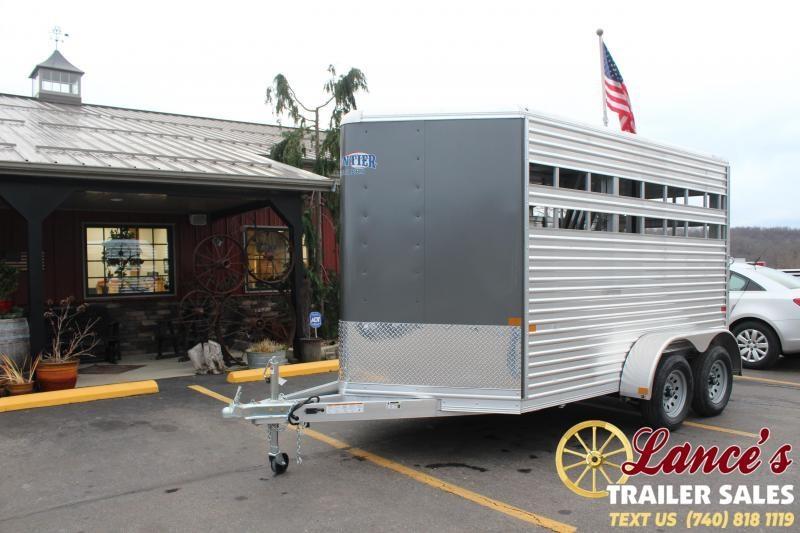 2021 Frontier 2 Horse Slant Load Horse Trailer